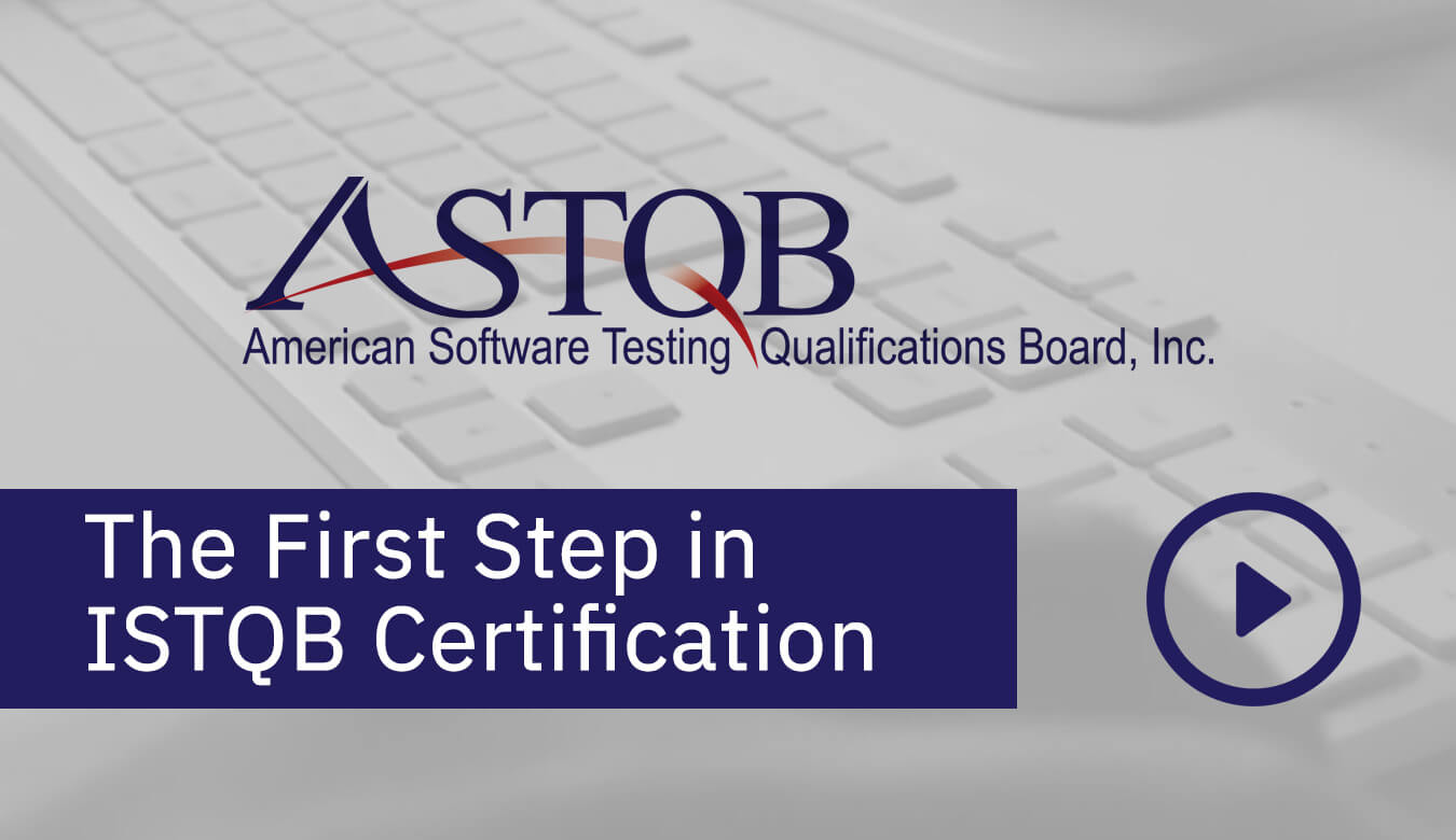 the first step in certification